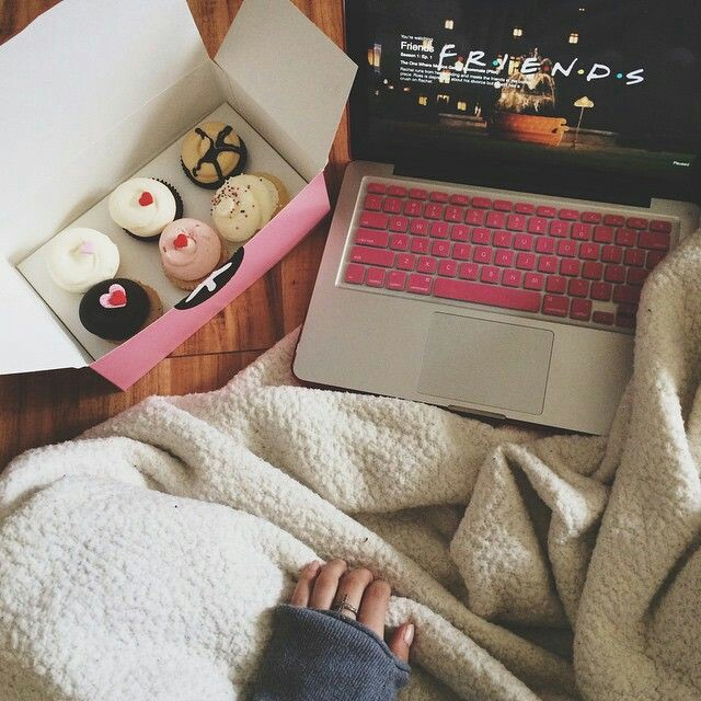 friends, cupcake, and donuts image