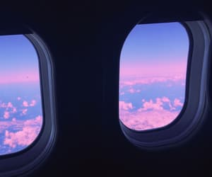 airplane, background, and pink image