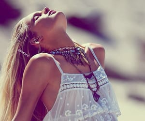 bohemian, make-up, and necklaces image