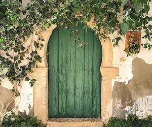 beautiful, door, and green image