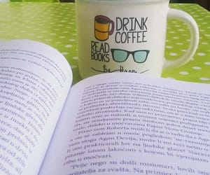 book, coffee, and morning- image