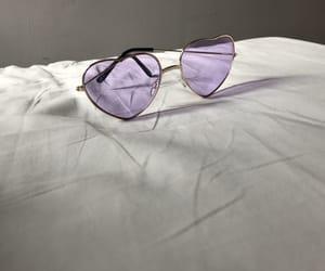 purple, lilac, and sunglasses image