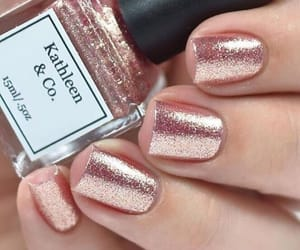 nails, rose gold, and pink image