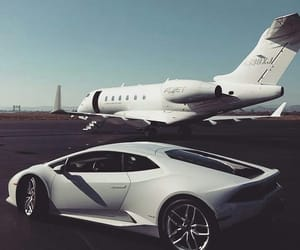 airplane, cars, and luxury image