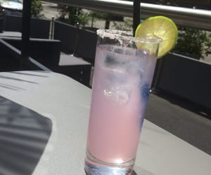 cocktail, sunny day, and pink drink image