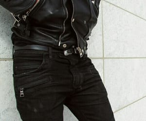 black, boy, and leather image
