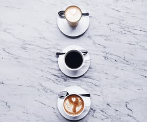 art, marble, and coffee image