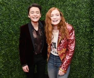 stranger things, sadie sink, and noah schnapp image