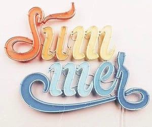 summer, blue, and orange image