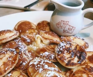 food, sweet, and poffertjes image