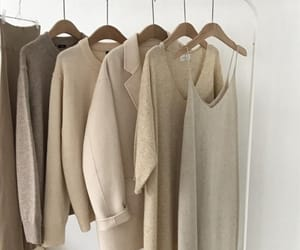 beige, aesthetic, and closet image