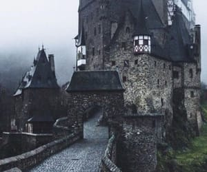 fog, castle, and city image