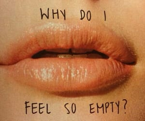 empty, lips, and quotes image