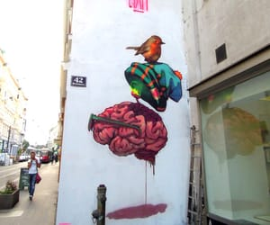 art, brain, and street art image