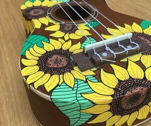 yellow, love, and ukelele image