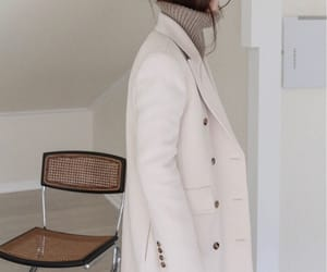 sweater, winter coat, and modern style image