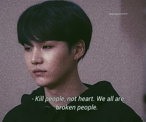 quotes, bts, and suga image