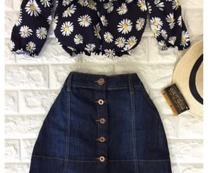 look, outfit, and flowers image