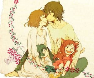 wolf children, anime, and cute image