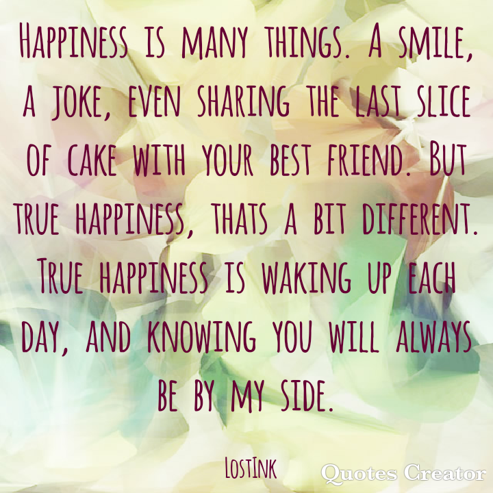 happiness, love, and quote image