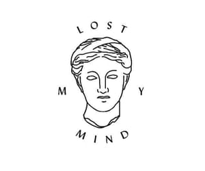 lost, black, and mind image