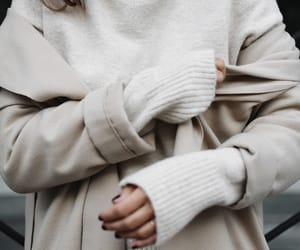 coat, fashion, and sweater image