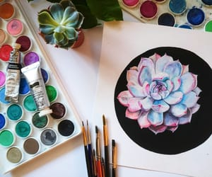 colors, drawing, and flowers image