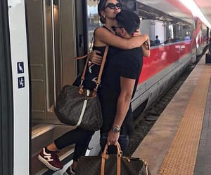 couple, love, and train image