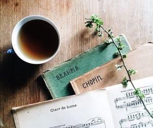 music, coffee, and chopin image