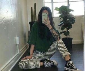 green, grunge, and outfit image