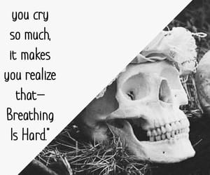 aesthetic, black and white, and crying image