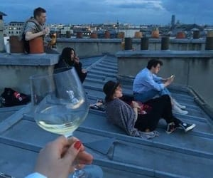 friends, wine, and friendship image