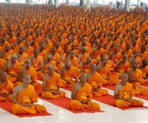 Buddhist, meditation, and monks image
