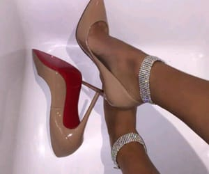 beige, heels, and jewellery image