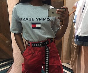 red, style, and tommy hilfiger image