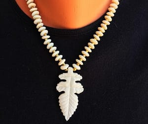 etsy, rondelle beads, and off white color image