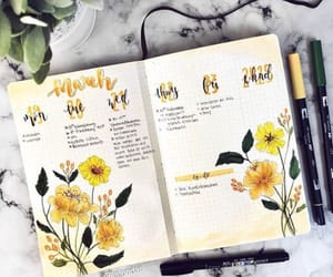 drawings, flowers, and yellow image