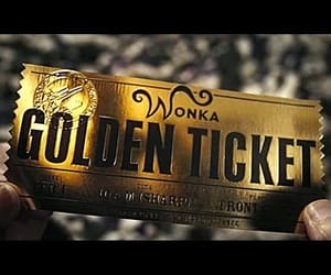 Willy Wonka and golden ticket image