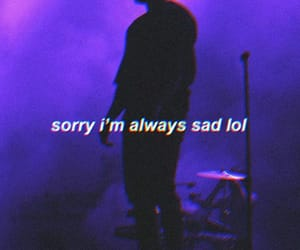 sad, purple, and quotes image