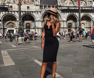 blonde, italy, and little black dress image