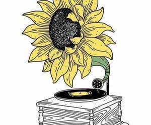 art, sunflower, and flowers image