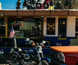 motorcycle, route 66, and usa image