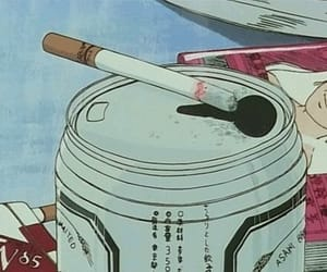 anime, aesthetic, and cigarette image