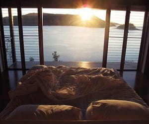 bed, sun, and sea image