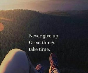 give up, never, and saying image