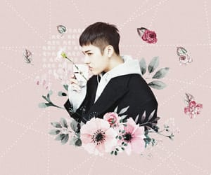 edit, flowers, and kpop image
