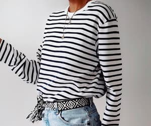 fashion, necklace, and stripes image