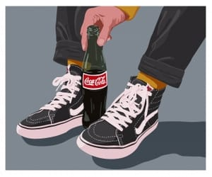vans, coca cola, and grunge image