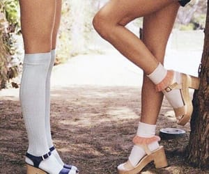 style, white, and high knee socks image
