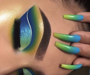 makeup, beautiful, and eyeshadow image